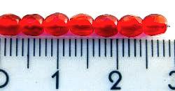 Best.Nr.:27005 facettierte Glasperlen rot transp., hergestellt in Gablonz Tschechien