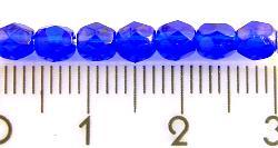 Best.Nr.:27010 facettierte Glasperlen dunkelblau transp.,  hergestellt in Gablonz / Tschechien