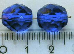Best.Nr.:27025 facettierte Glasperlen royalblau