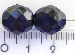 Best.Nr.:26001 facettierte Glasperlen dunkelblau