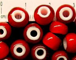 Best.Nr.:17014 Rocailles von Ornella Preciosa Tschechien,  rot mit weißen Kern