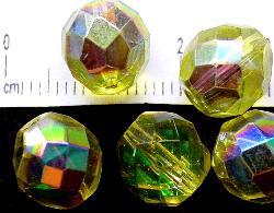 Best.Nr.:28177 facettierte Glasperlen mit AB, hergestellt in Gablonz / Tschechien