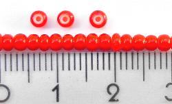 Best.Nr.:17001 Rocailles von Ornella Preciosa Tschechien,  rot mit weißen Kern,