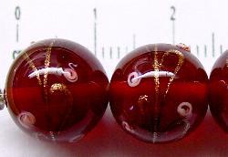 Best.Nr.:45-1236 handgefertigte Lampenperle aus den Böhmischen Glashütten