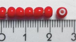 Best.Nr.:17004/200 Rocailles rot mit weißen Kern