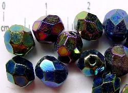 Best.Nr.:28034 facettierte Glasperlen,  metallic, hergestellt in Gablonz / Tschechien