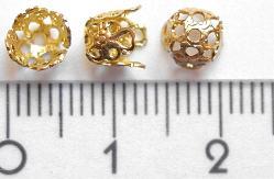 Best.Nr.:40018 Perlenkappe  goldfarben