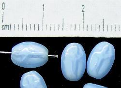 Best.Nr.:63018 Glasperlen aus Gablonz/Böhmen ca.1930 hergestellt alabaster hellblau Rosenkranzperle mit eingeprägtem Kreuz