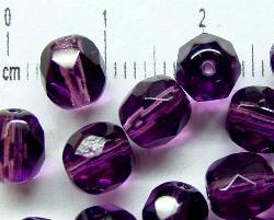 Best.Nr.:27235 facettierte Glasperlen violett