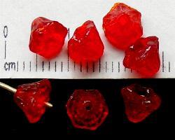 Best.Nr.:63039 Glasperlen in den 1920/30 Jahren in Gablonz/Böhmen hergestellt rot