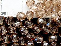 Best.Nr.:24025 facettierte Glasperlen  mit Wachsüberzug