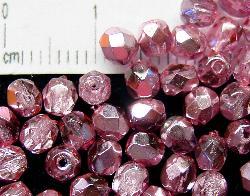 Best.Nr.:24009 facettierte Glasperlen mit Silber-Veredelung und Wachsüberzug