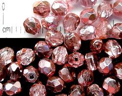 Best.Nr.:24011 facettierte Glasperlen mit Silber-Veredelung und Wachsüberzug