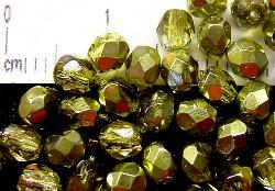 Best.Nr.:24010 facettierte Glasperlen mit Silber Veredelung und Wachsüberzug