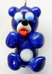 Best.Nr.:34080 handgefertigter Glasanhänger mit Öse Bärchen