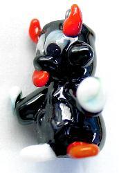 Best.Nr.:34063 handgefertigter Glasanhänger mit Öse Teufelchen