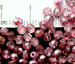 Best.Nr.:24012 facettierte Glasperlen mit Silber Veredelung und Wachsüberzug