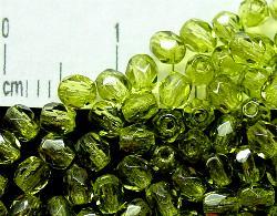 Best.Nr.:24027 facettiert Glasperlen mit Wachsüberzug