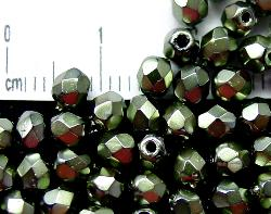 Best.Nr.:24034 facettierte Glasperlen  mit Wachsüberzug