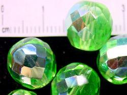 Best.Nr.:28202 facettierte Glasperlen frühlingsgrün eine Seite mit AB