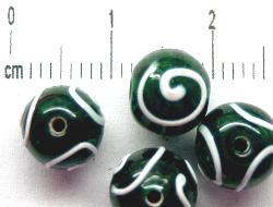 Best.Nr.:45-2322 handgefertigte Lampenperle aus den Böhmischen Glashütten