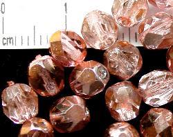 Best.Nr.:24038 facettierte Glasperlen mit Silber-Veredelung und Wachsüberzug