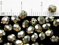 Best.Nr.:24057 facettierte Glasperlen mit Wachsüberzug
