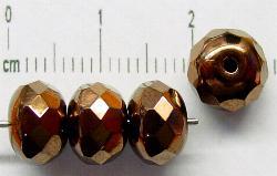 Best.Nr.:28217 facettierte Glasperlen Linsen bronzefarben
