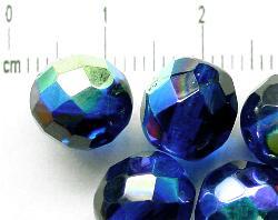 Best.Nr.:28182 facettierte Glasperlen blau mit AB