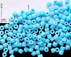 Best.Nr.:18001/100 3-Cutbeads von Ornella Preciosa Tschechien  hellblau opak