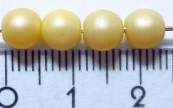 Best.Nr.:22066 Glasperlen mit Wachsüberzug gelb schimmernd