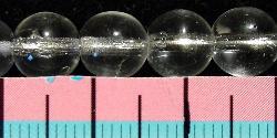Best.Nr.:22112 Glasperlen rund   kristall, hergestellt in Gablonz / Tschechien