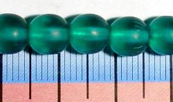 Best.Nr.:22217 Glasperlen smaragdgrün mattiert