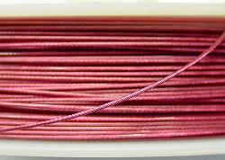 Best.Nr.:36017 Edelstahldraht nylonummantelt,rosa