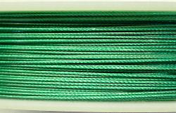 Best.Nr.:36011     Edelstahldraht nylonummantelt,smaragdgrün