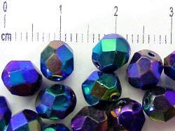 Best.Nr.:28038 facettierte Glasperlen,  metallic,  hergestellt in Gablonz / Böhmen