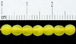 Best.Nr.:22360 Glasperlen gelb mattiert