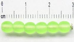 Best.Nr.:22373 Glasperlen hellgrün mattiert