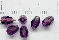 Best.Nr.:27139 facettierte Glasperlen  Tropfen violett