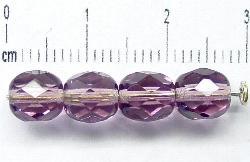 Best.Nr.:27132 facettierte Glasperlen hell violett