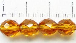 Best.Nr.:27078 facettierte Glasperlen honiggelb