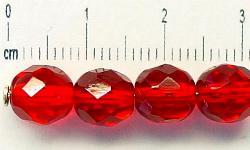 Best.Nr.:27105 facettierte Glasperlen rot