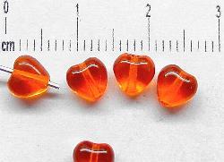 Best.Nr.:56019 Glasperlen orange Herzen