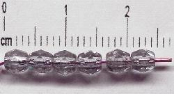 Best.Nr.:27082 facettierte Glasperlen violett hell transp.,  hergestellt in Gablonz / Tschechien