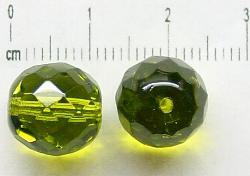 Best.Nr.:27115 facettierte Glasperlen grün