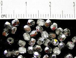 Best.Nr.:28100 facettierte Glasperlen kristall silber, hergestellt in Gablonz / Tschechien