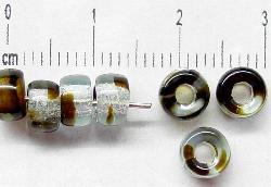 Best.Nr.:52010 Glasperlen kristall braun marmoriert, hergestellt in Gablonz / Tschechien