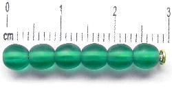 Best.Nr.:22398 Glasperlen smaragdgrün mattiert