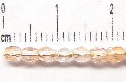 Best.Nr.:27176 facettierte Glasperlen zart rosa meliert transp, hergestellt in Gablonz / Tschechien