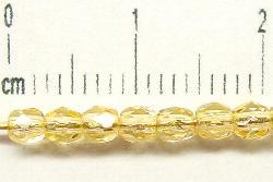 Best.Nr.:27179 facettierte Glasperlen honiggelb transp, hergestellt in Gablonz / Tschechien